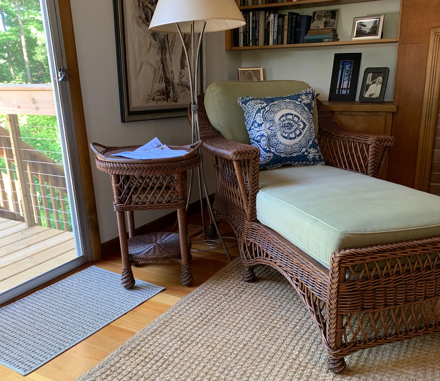 Image of a Wicker Chaise available at American Country Home Store